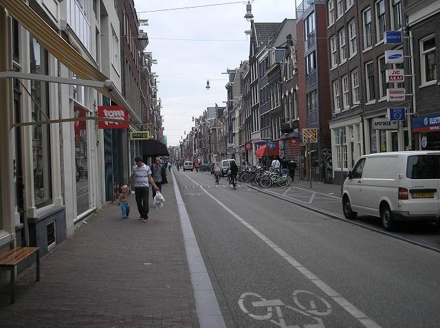 Haarlemmerstraat im Haarlemmerbuurt in Amsterdam