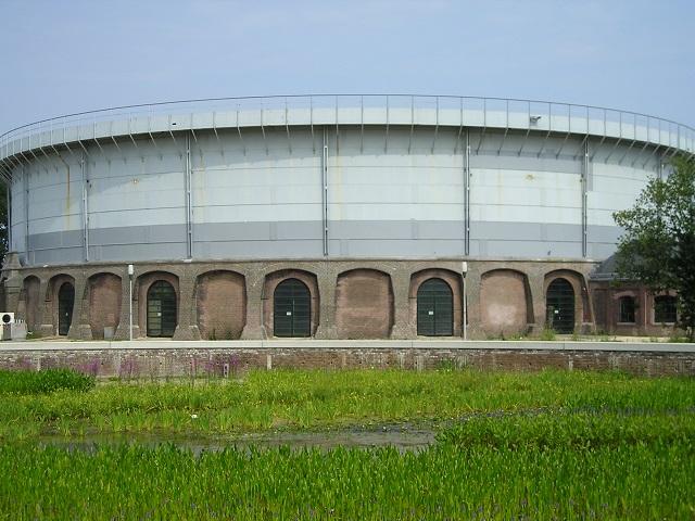 Gasbehälter in Westergasfabriek, Amsterdam