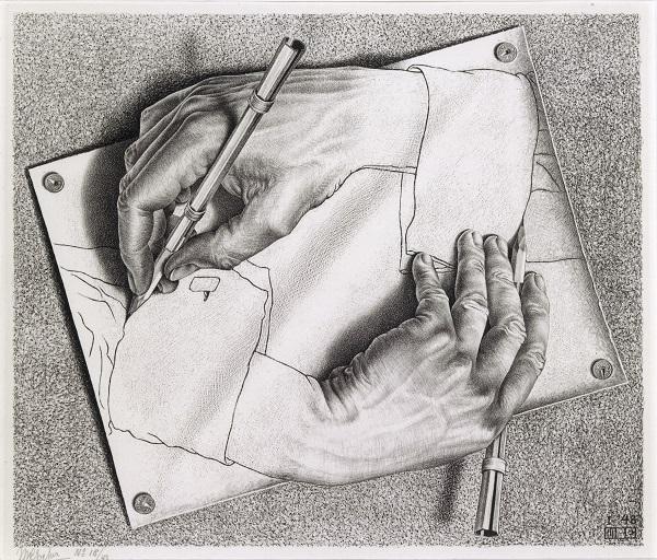 """""""Zeichnen"""" von M.C.Escher"""