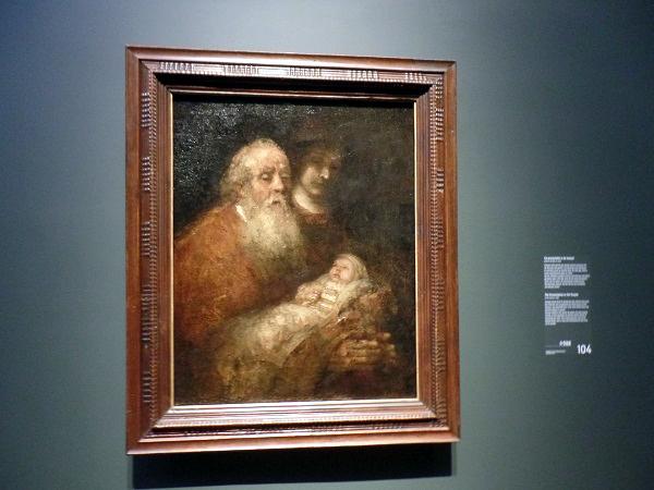 Rembrandts letztes Gemälde von Simeon