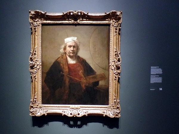 Selbstbildnis mit 2 Kreisen, Late Rembrandt