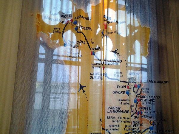 die Karte der Tour de France im Hotel Dream