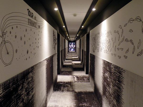 der Hotelgang im Hotel Dream Mons