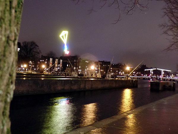 light kite beim Amsterdam Light Festival 2015/16