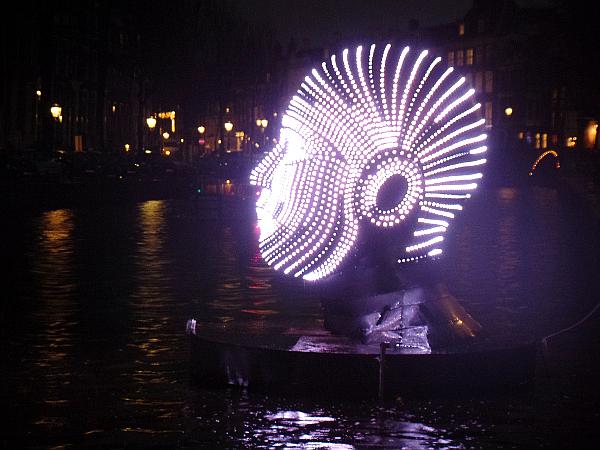talking heads beim Amsterdam Light Festival 2015/16