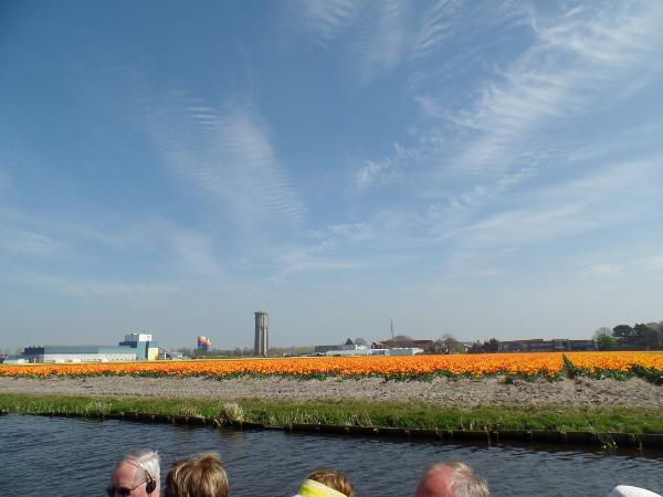 auf der Bootstour durch die Tulpenfelder vom Keukenhof aus