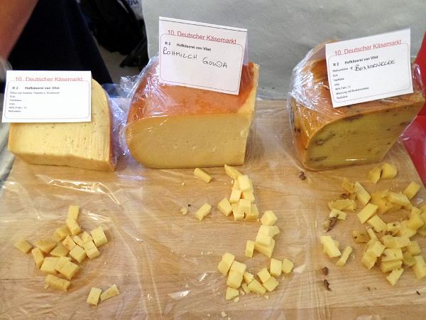 im Raum des Geschmacks - alle Käsesorten vom Käsemarkt in Nieheim