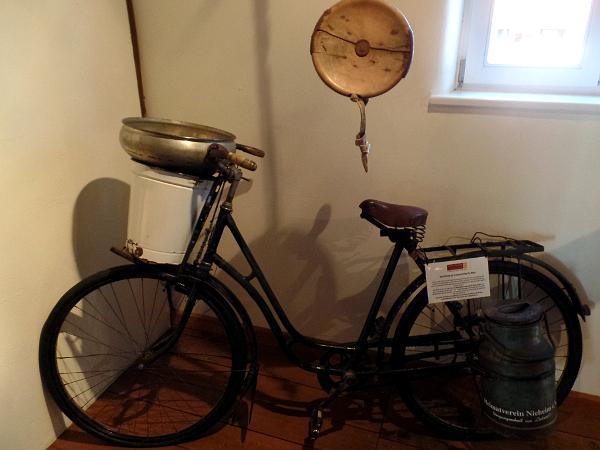 das Käsefahrrad im Käsemuseum Nieheim