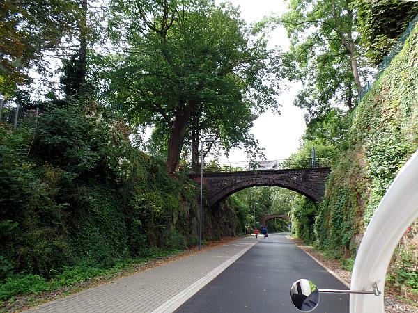 Velotaxi op de Nordbahntrasse in Wuppertal