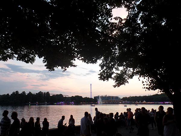 mooie zonsondergang bij het Maschseefest in Hannover