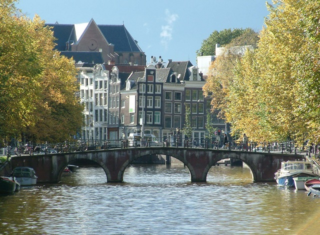 eine Gracht in Amsterdam