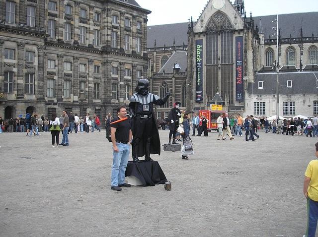 Blick auf die Nieuwe Kerk in Amsterdam