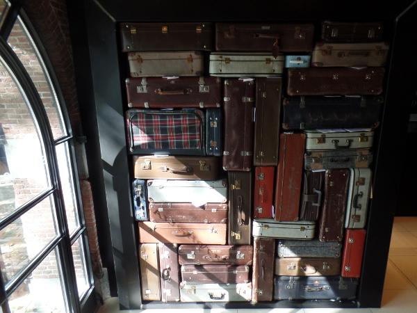 Kofferwand im Stadshotel Woerden