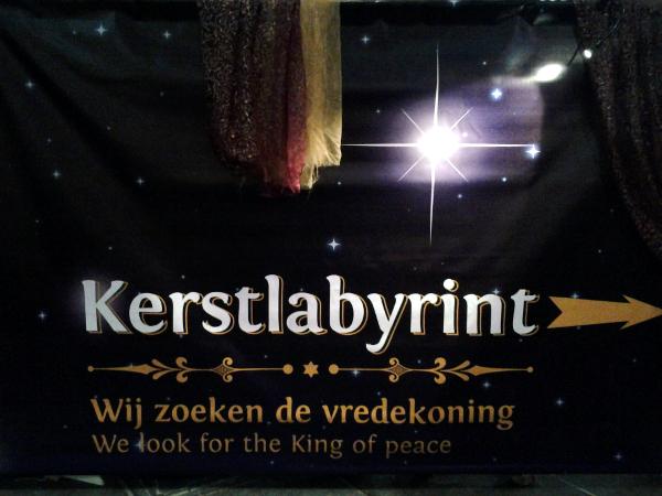 Weihnachtslabyrinth in Sint Jan