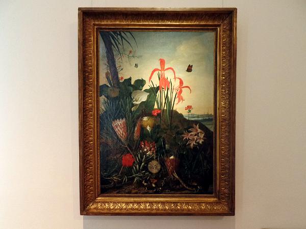 Frans Hals Museum: van der Vinne, Fantasielandschap met exotische planten, 1736