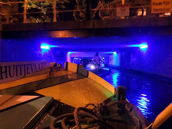 abendliche Bootstour durch Leiden