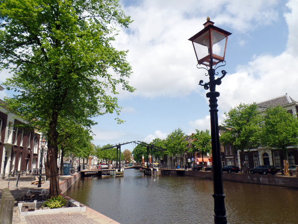 Hauptgracht Lange Haven in Schiedam