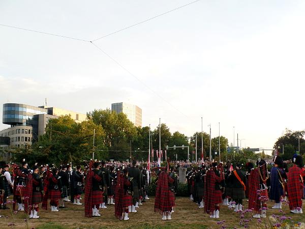 Schottische Dudelsäcke auf der Gedenkfeier in Arnhem