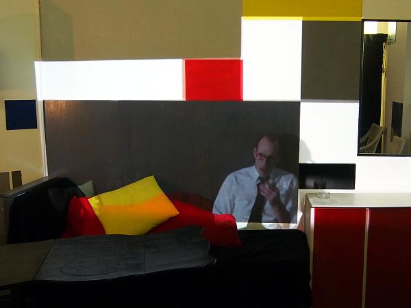 Mondriaan in seiner Pariser Wohnung