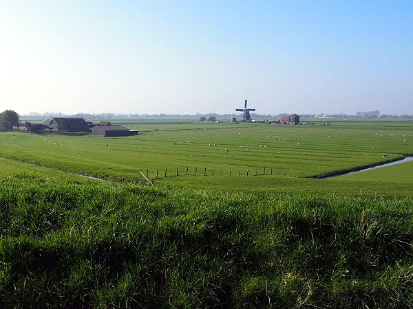 Blick vom Ijsselmeerdijk in Laag Holland