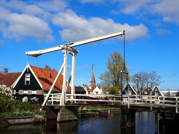 Edam Zugbrücke in Laag Holland
