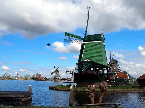 Zaanse Schans in Laag Holland