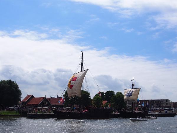 die Koggen in Kampen während der Hanzedagen & Hanse 2017