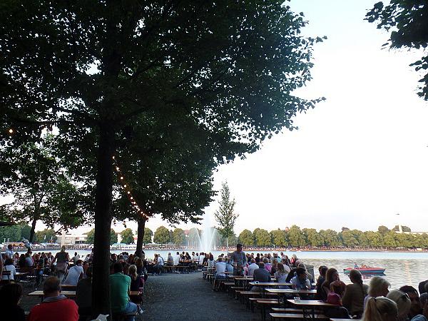 chillen bij het Maschseefest in Hannover