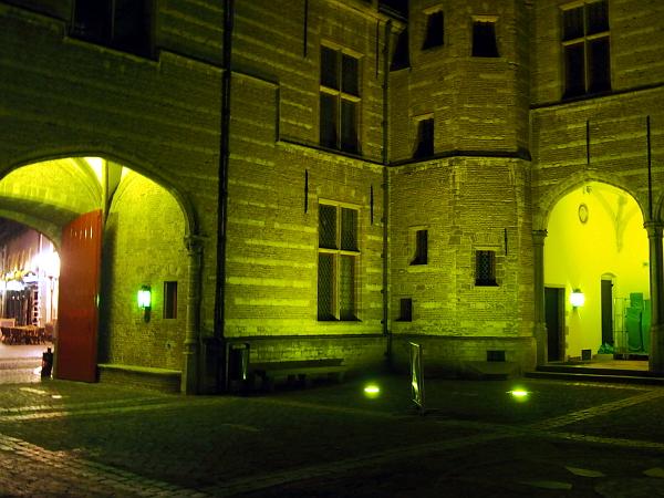 Markiezenhof in Bergen op Zoom erstrahlt in grün