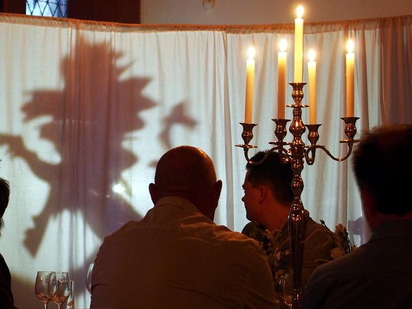 Schattenspiel zur BrabantNacht im Markiezenhof von Bergen op Zoom