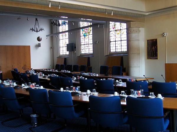 Sitzungssaal im oude Stadhuis in Bergen op Zoom