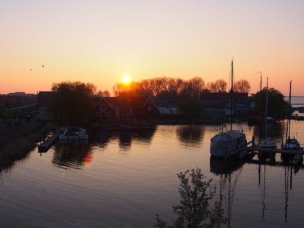 Sonnenaufgang in Volendam