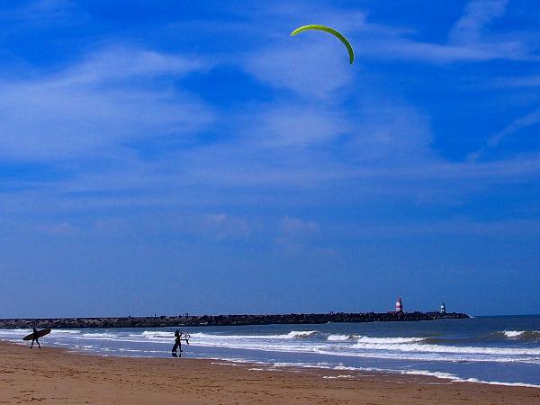 Kiter am Strand von Scheveningen