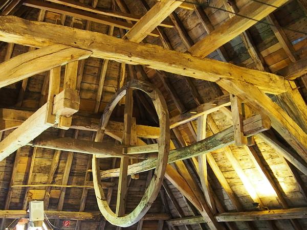 Erfgoedfestival 2018: Die Dachkonstruktion vom Kloster Graefenthal