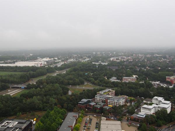Bremen bij regen vanaf Drop Tower2