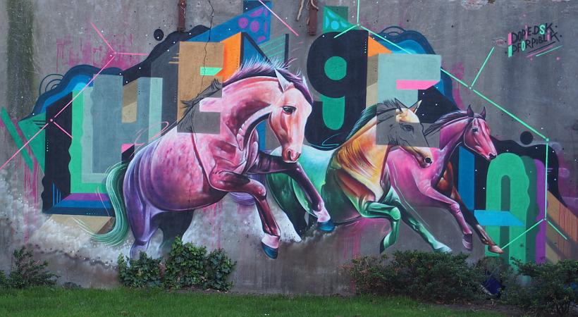 Streetart in Hengelo - Pferde