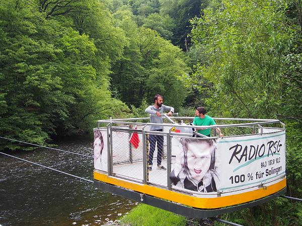 Schwebefähre im Brückenpark Müngsten bei Remscheid