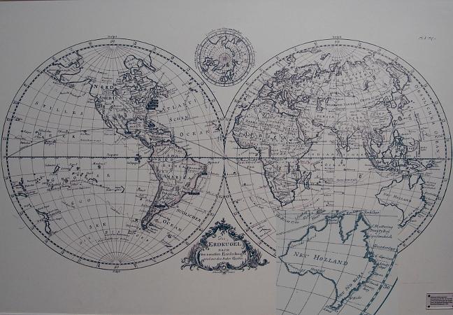 Weltkarte im Werkzeugmuseum Remscheid