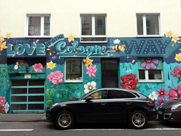 Streetart im Belgischen Viertel in Köln